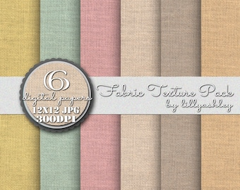 Digital Paper Pack of 6--12x12 JPG Textured Downloadable Papers for Scrapbook Web Backgrounds Photography Cards Invites Etc!