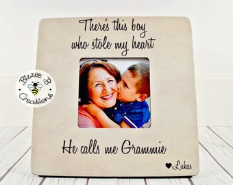 ON SALE Special Gift for Grandma, There's This Boy Who Stole My Heart, Grandparent Gift, Grandchild Grandparent Picture Frame, Gift From Gra