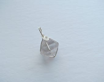 Grey Flourite Pendant in Sterling Silver