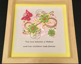 Lovely butterfly and flowers Mothers Day embellished box frame