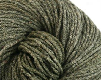 Hand Dyed Aran weight Mini Empire Heathers Rambouillet Wool 213 yds 4oz Jasper