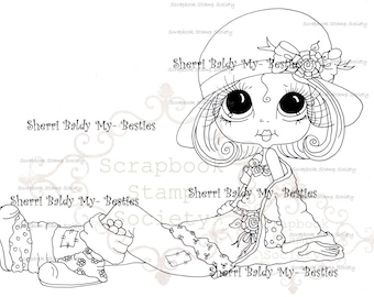 INSTANT DOWNLOAD Digital Digi Stamps Big Eye Big Head Dolls Digi  IMG773 By Sherri Baldy