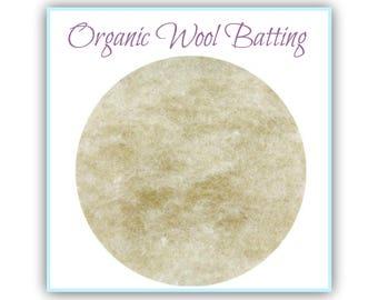Organic Wool Core Batting, Merino Core Wool, Bulk Batting by the lb, Wool Stuffing for Needle Felting, Wet Felting, Doll Making, Filling
