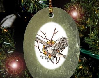 Hawk in Flight Totem Animal Yule, Holiday, Christmas Ornament