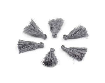 Grey cotton tassel