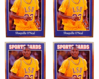 4 - 1992 Sports Cards #140 Shaquille O'Neal Basketball Card Lot LSU