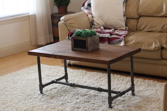 Rustic Industrial Coffee Table, Rustic Home Decor, Rustic Furniture, Industrial Furniture, Industrial Coffee Table, Wooden Coffee Table