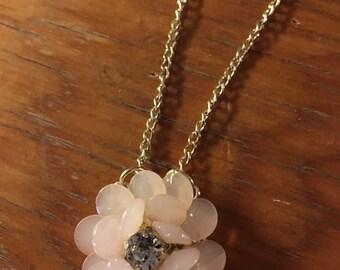 Large Pink Flower necklace