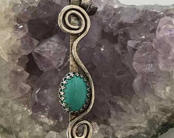Ribbon Collection, Sterling Silver, Turquoise
