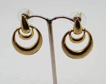 Drop gold earrings, gold tone dangle earrings.gift for her birthday gift