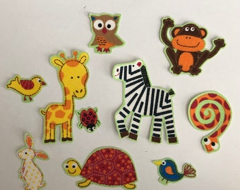 Tiny Animals - Iron On Fabric Appliques - baby shower favorite