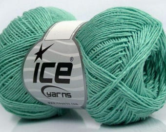 ICE PLAIN MINT 50G FINGERING WOOL 3 / / 62