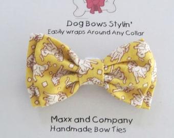 Dog Bow Tie - Dog Bowtie - Dog Bow For Collar - Dog Collar Bows - Dog Collar Bowtie - Vintage Dogs
