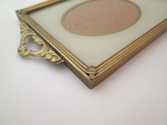 3x4 frame, Vintage, reverse painted glass, Art Deco, Wedding Frame ...