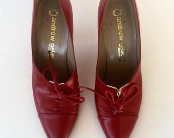 VTG ANDREW GELLER Red Genuine shoes sz 6B