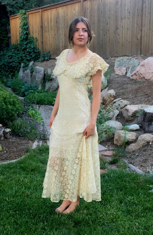 Ivory art deco dress 20s lace dress antique wedding dress zoom ombrellifo Image collections