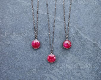 Ruby / Ruby Necklace / Red Ruby / Ruby Jewelry / July Birthstone / Ruby Pendant / Ruby Gemstone