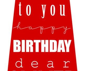 custom Happy Birthday Tie - printable file