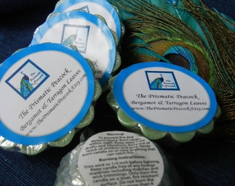 Bergamot & Tarragon Leaves Scented Soy Wax Melting Tarts Green