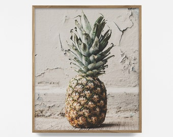 Pineapple Print, Pineapple Art, Tropical Print, tropical art, tropical poster, Fruit Print, Pineapple Wall Art, Pineapple Decor, Pineapple