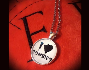 I Love Zombies Necklace