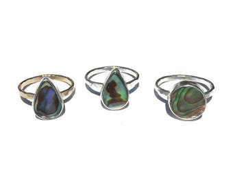 abalone rings, size 6