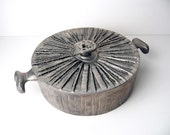 Early Don Drumm Modernist Brutalist Casserole Dish Cast Aluminum