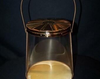 Vintage Clear Lucite Cylindrical Handbag