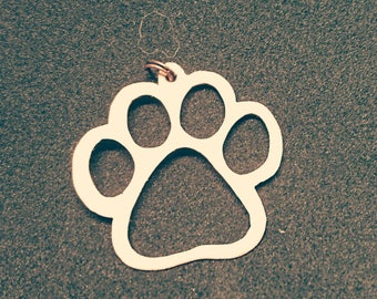 Dog paw, copper or silver
