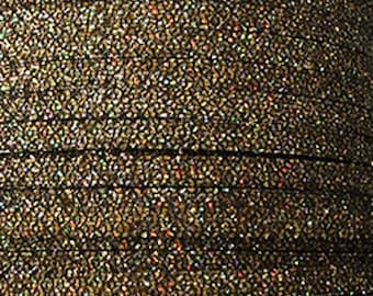 20 cm Strip glitter sparkling effect Gold 5 mms wide