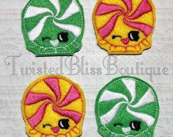 Set Of 4 Shopkin Candy Felties