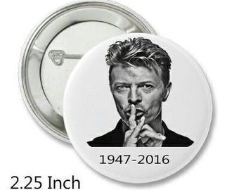 2.25 Inch Pin Back Button - David Bowie - FREE SHIPPING
