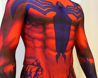 New Toxin Spiderman 3D Printing/Muscle shading Costume