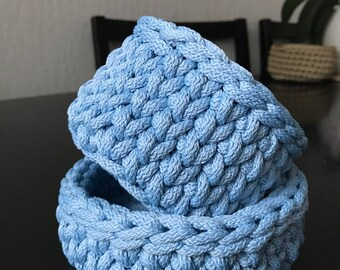 Home Decor / Storage Basket / Small Crochet Basket / Crochet Bowl / Crochet Storage Container