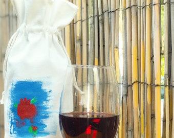 Handmade Painted Wine Bags