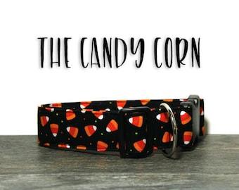 Halloween Dog Collar, Candy Corn Dog Collar, Holiday Dog Collars, Fall Dog Collars, Dog Collars for Halloween, Candy Corn Collar for Dogs