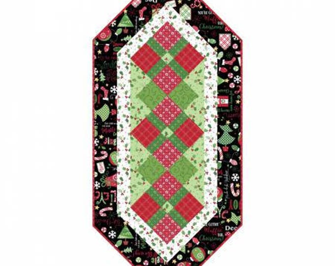 CHRISTMAS Quilt Kit, Jingle All The Way Table Runner Quilt Kit by Kim Christopherson Collection for Maywood 17 x 38