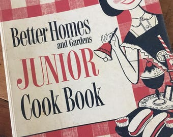 Better Homes & Gardens, Junior cookbook, vintage cookbook,  children cookbook, BHG cookbook