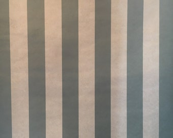Motif Vintage Wallpaper Stripes Teal Green