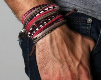 Mens Bracelet, Gift for Men, Boyfriend Gift, Burning Man, Husband Gift, Wrap Bracelet, Gift for Boyfriend, Gift for Husband, Festival