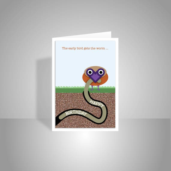 Funny birthday card for him or her cute happy birthday card like this item bookmarktalkfo Images