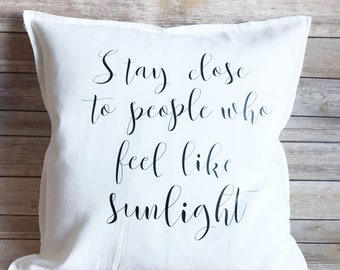 Home decor trends, white decorative pillow, couch pillow, inspiring throw pillow, unique gift, home decor, gift for mom, home decor ideas,
