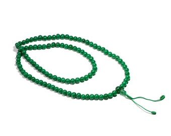 Mala Meditation Beads Green Onyx 108 Mala beads Yoga Jewellery Prayer Beads Buddhist Free UK Delivery + Gift Bag M8
