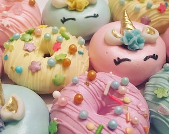 Unicorn themed Mini Donuts