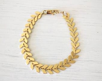 Arrow Bracelet // Gold Baby Bracelet, Gold Bracelet, Gold Toddler Bracelet, Gold Baby Accessory, Gold Accessory