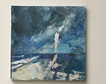 Original painting 'Silver Sea'