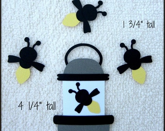 Die Cut Catching Fireflies Lightning Bugs Premade Paper Piecing Embellishment for Card Making Scrapbook or Paper Crafts