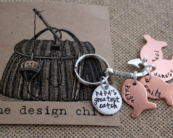 Fish Key Chain, Fish Keychain, Fishing Gifts, Gifts for Papa, Gifts for Dad, Father's Day Gifts, Personalized Fish, Gifts for Him