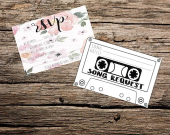 RSVP & Song Request Card Printable