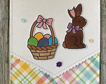 Handmade You are earresistible card-Happy Easter card-Handmade Easter card-Handmade chocolate bunny card-Handmade Happy Easter card